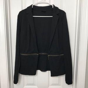 Mossimo Black Blazer with Zipper Detailing